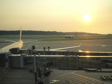暮れなずむ仁川空港