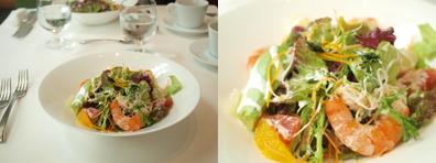 季節のフルーツと季節のお野菜/お茶っ葉入りのサラダ