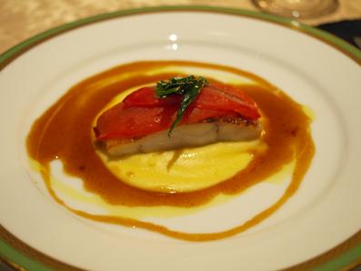 真鱈のポワレとトマトのコンフィ