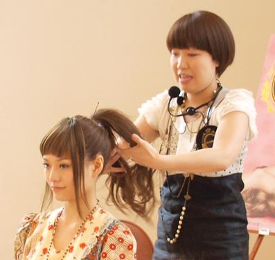 JINJIN先生のヘアアレンジ