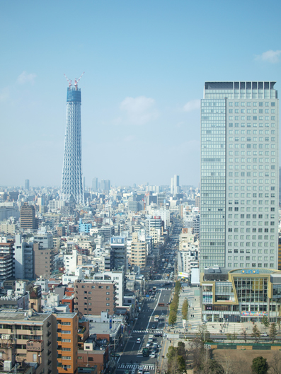 東京スカイツリーも見える