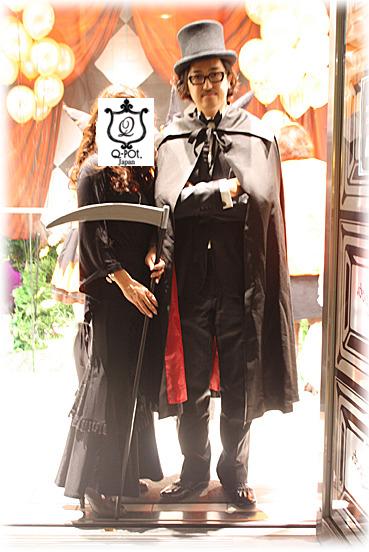 ハロウィンパーティ2009で一緒に写真を撮ってくださったとき
