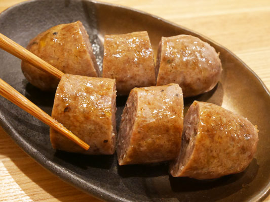 肉山 本八幡 短角牛のソーセージ