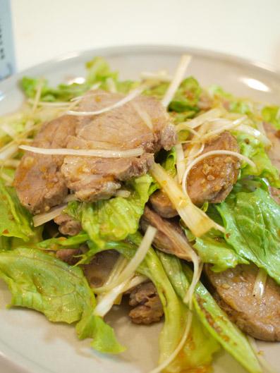 煮豚のネギ和えサラダ風