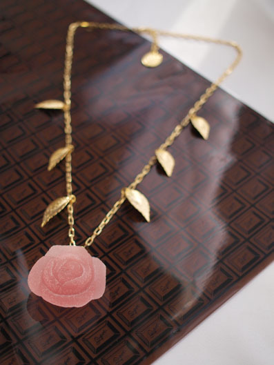 Cherry Rose Pate de Fruit Necklace