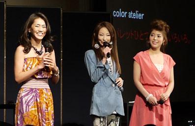 前田典子さん、真山景子さん、香川絵馬さん