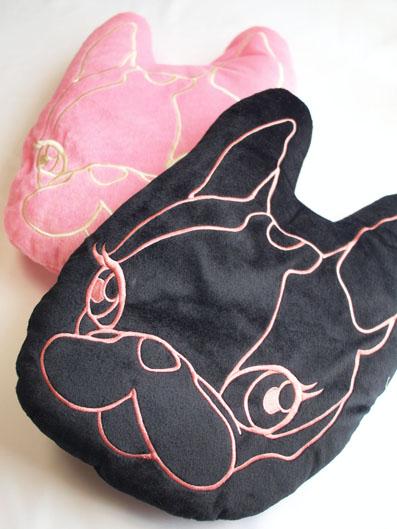 クリスタルボール 「Hippie ふんわりクッション」 ブラック&ピンク
