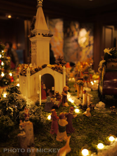 クリスマスのロビーにありました