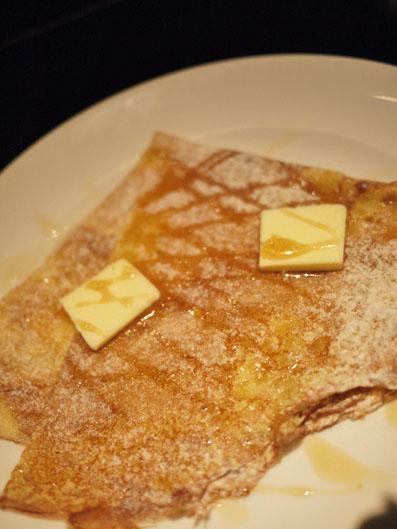 塩バターとメープルシロップ