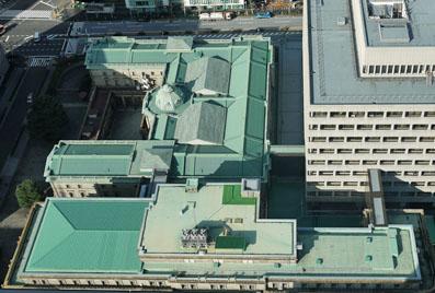 日本銀行を上から見てみたら