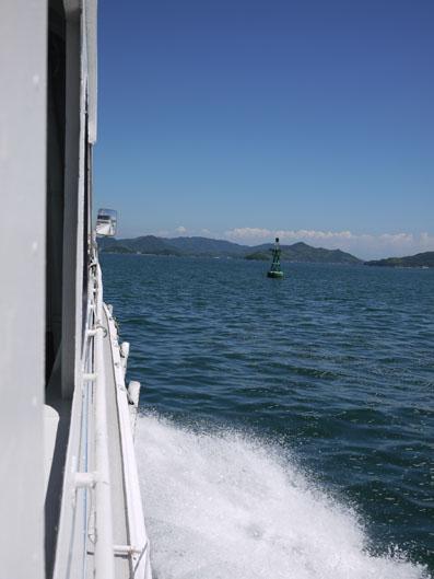 船で因島へ