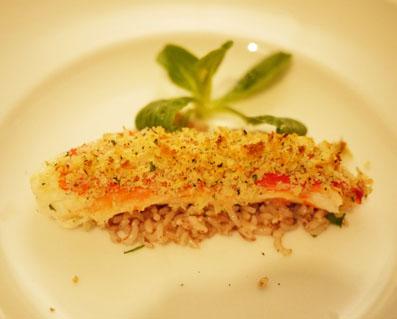 北海道産 タラバ蟹の香草パン粉焼き