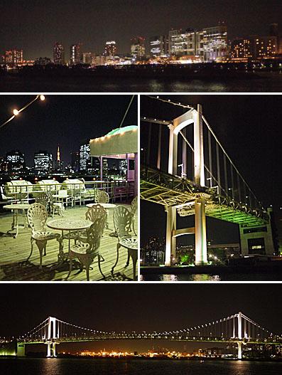 海から眺める東京の夜景