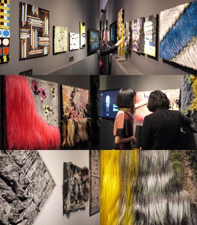 壁面の素材展示
