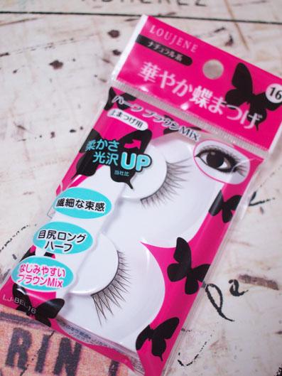 LOUJENE「華やか蝶まつげ 16 ハーフ Br.Mix」