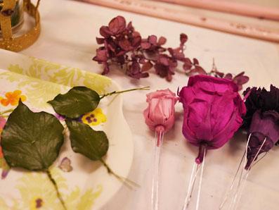 お花の準備