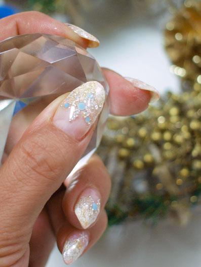ダイヤモンドで雪の結晶