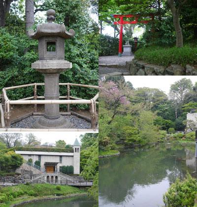 史跡や庭園の風景