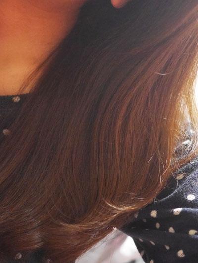 髪がやわらかくなりました
