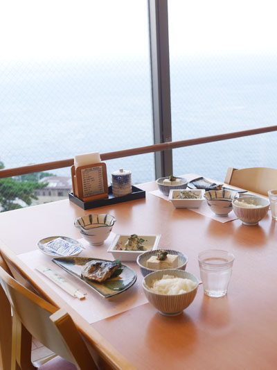 眺めが良い朝食
