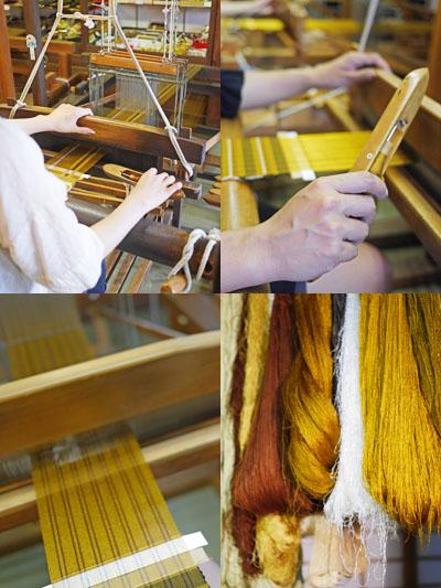 黄八丈手織り体験気分
