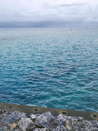 海の色がキレイ