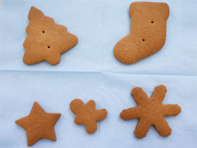 デコレーション前のクッキー