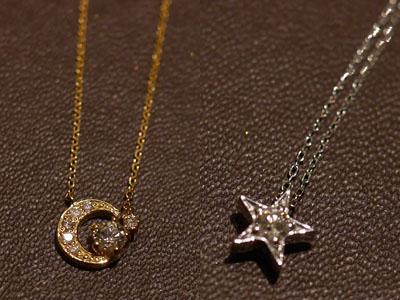 Wish upon a starダイヤモンドペンダント