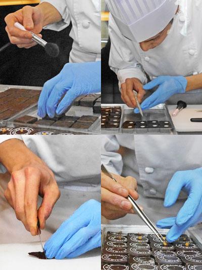 手間暇かけて作られるチョコレートの宝石