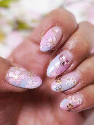 桜ネイル2015