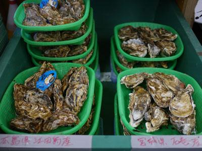広島と宮城の牡蠣