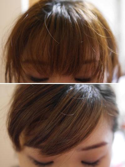 前髪に使ってみました