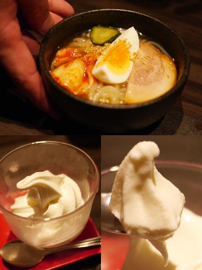 盛岡冷麺とデザート