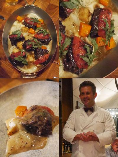 牛頬肉の煮込み 粒マスタードグレイズ トマト ディル コールラビのブレゼ