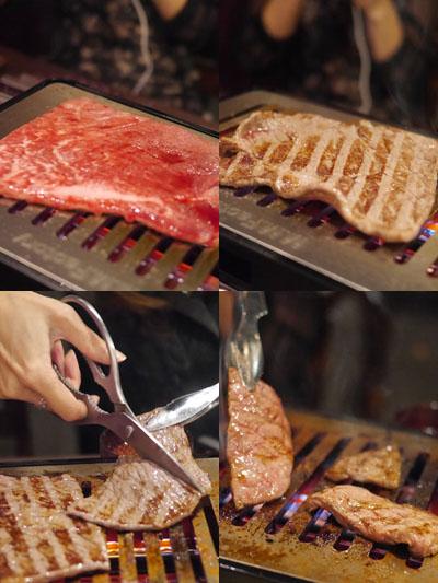 松阪牛赤身を焼きます