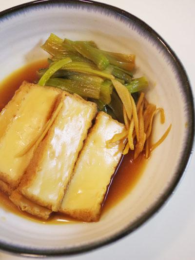 小松菜と厚揚げの煮物が好き