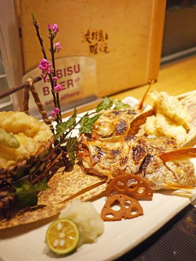 のどぐろの天ぷら&塩焼き