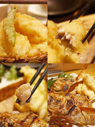 天ぷらはふわふわ、塩焼きはつるん
