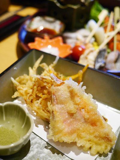 かき揚と金目鯛の天ぷら