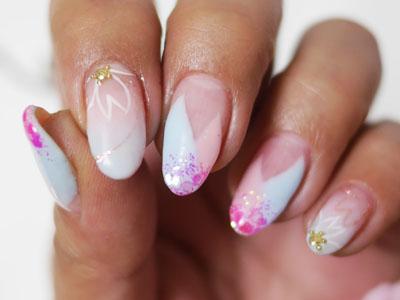 桜フレンチネイル