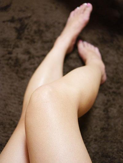 脚に透明感が出ました