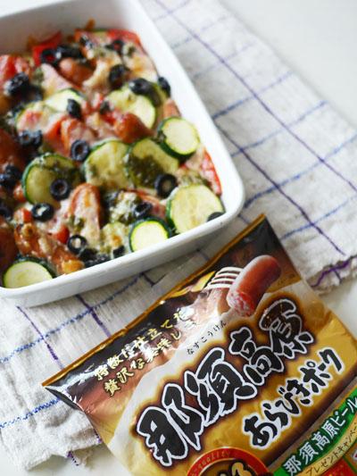 ソーセージと夏野菜のトマチー焼き