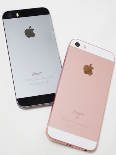 iPhone 5sとSE