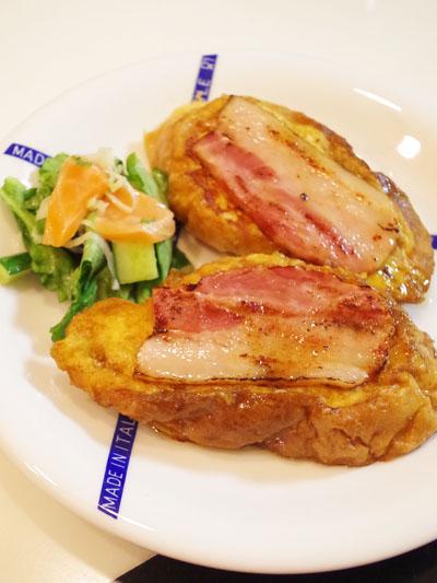 フードリエ「旨味食感 ジューシー厚切りベーコン」でチーズフレンチトースト