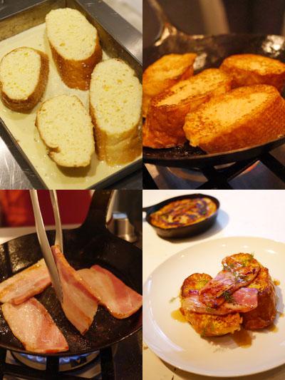ベーコンのせチーズフレンチトースト