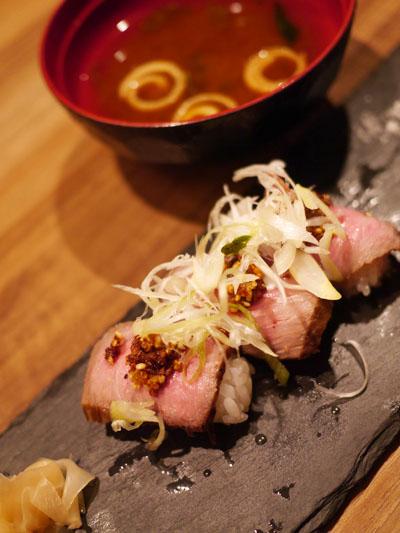 和牛ローストビーフの握り寿司