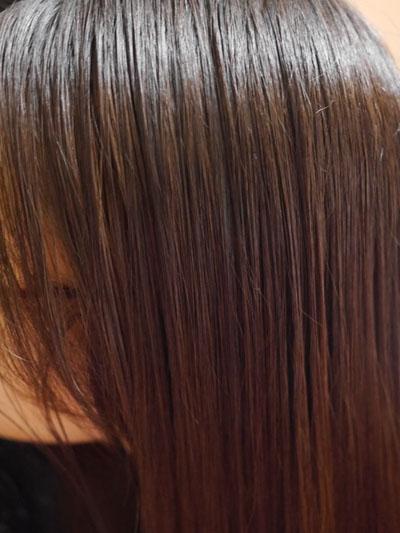ツヤツヤの髪