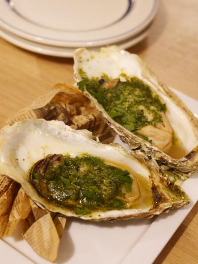 牡蠣のガーリックバター