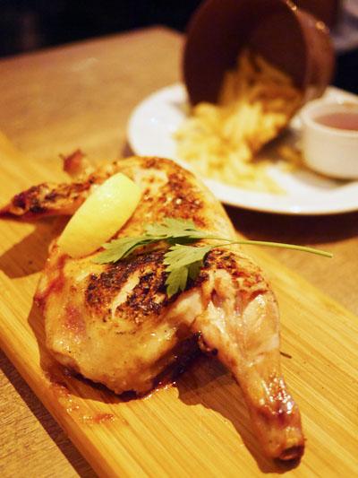 半身鶏の香草焼き