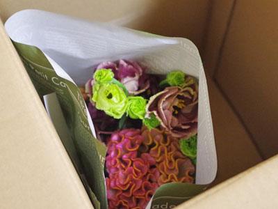 花束が宅配便で届きました